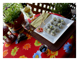 sushi, Sushi Time, balcony, supper, summer, home sweet home, Mudd Lavoie