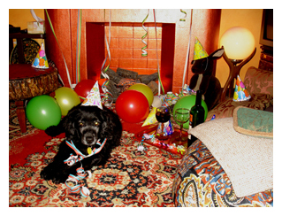 Daisy Cocker Spaniel party New Years Eve balloons Mudd Lavoie Happy New Year